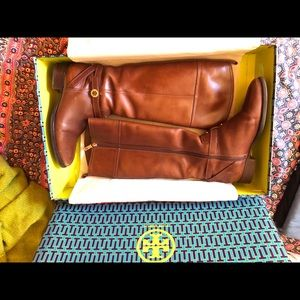 Tory Burch Sienna brown riding boots